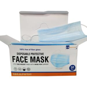 3 ply face mask pack of 50